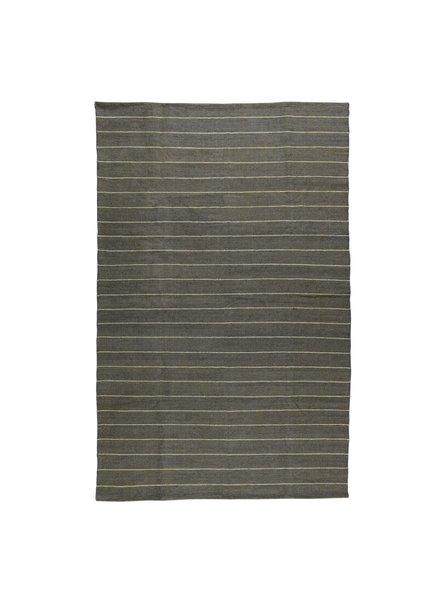 HomArt Seaport Kilim Rug 5x8-Slate / White Stripe