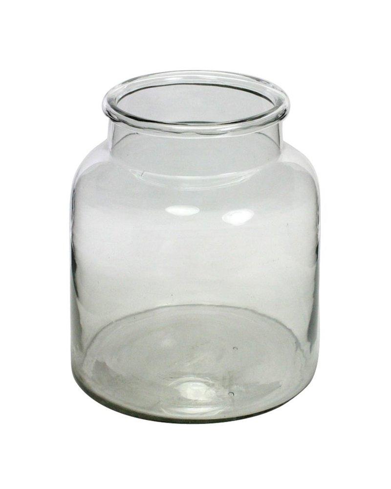HomArt Tide Glass Crock - Lrg Wide Clear
