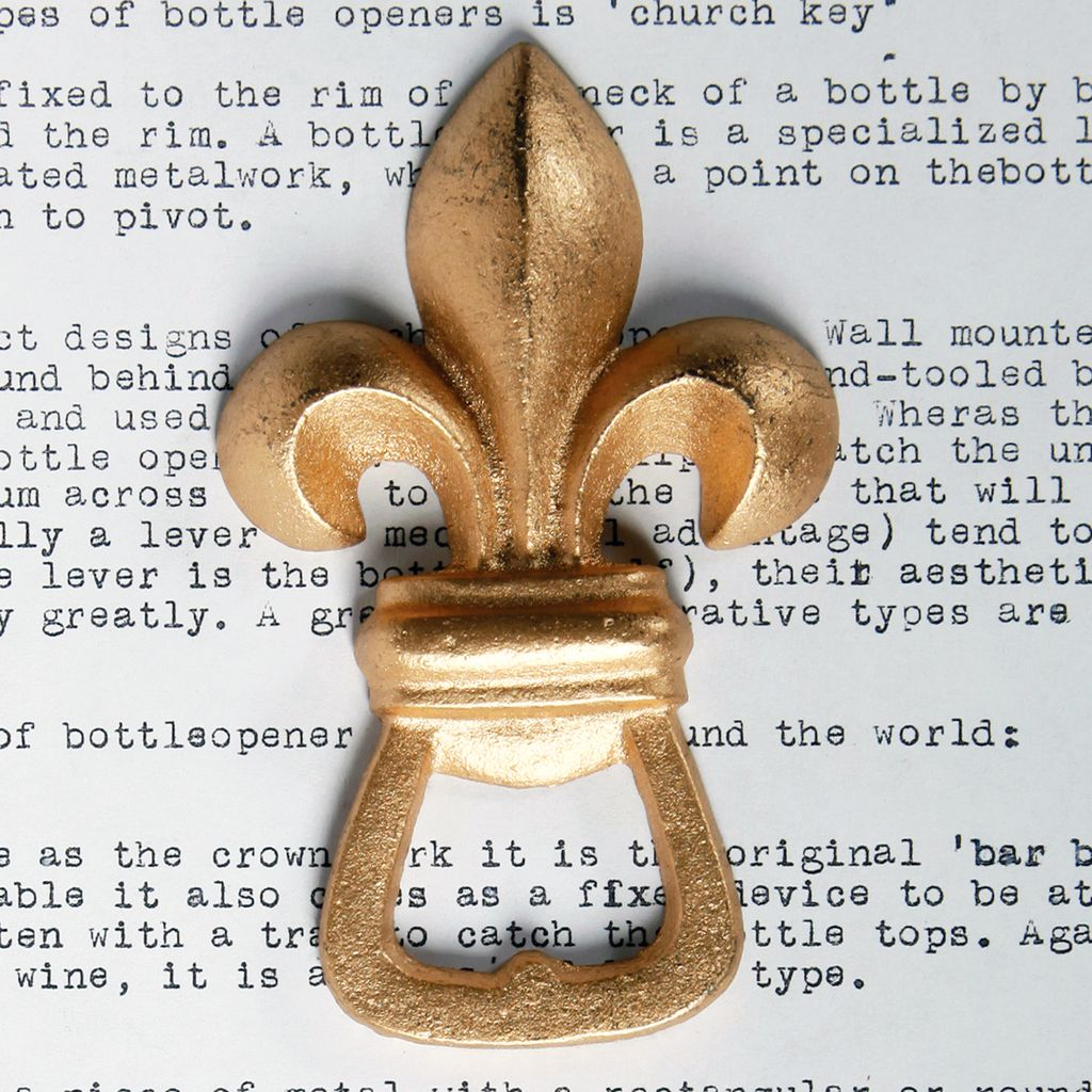 HomArt Fleur De Lys HomArt Bottle Opener Gold