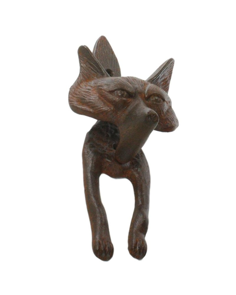 HomArt Fox Door Knocker - Cast Iron Rust