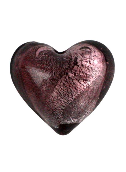 HomArt Venetian Glass Heart Pink (Half Bakers Dozen Online Only)