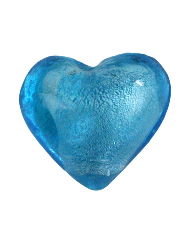 HomArt Venetian Glass Heart Sky Blue (Half Bakers Dozen Online Only)