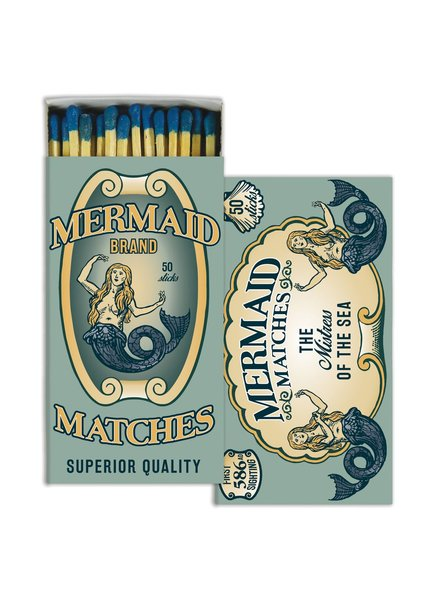 HomArt Mermaid Brand HomArt Matches - Set of 3 Boxes