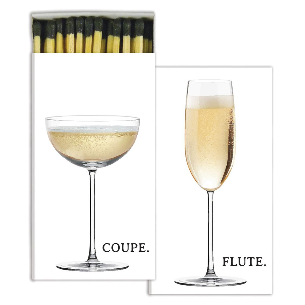 HomArt Champagne Flute & Coupe HomArt Matches - Set of 3 Boxes