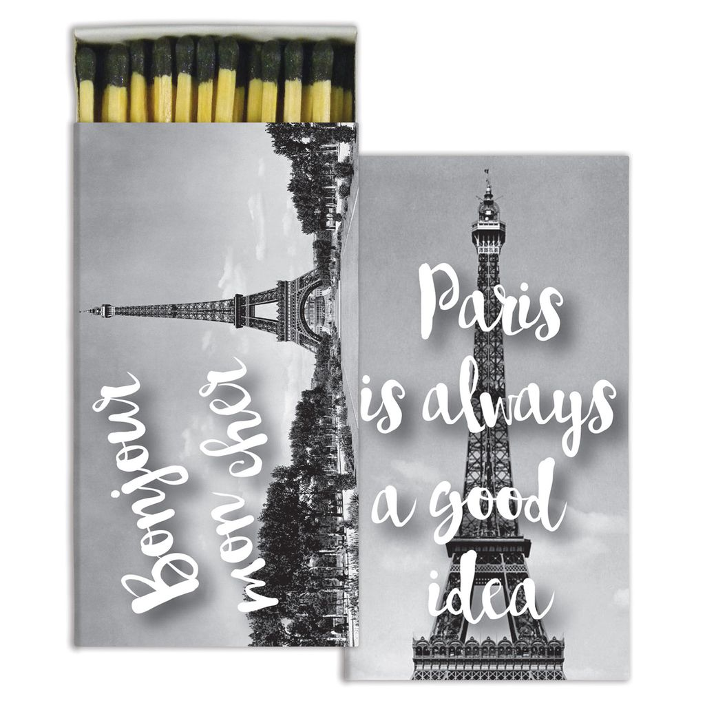 HomArt Bonjour Paris HomArt Matches - Set of 3 Boxes