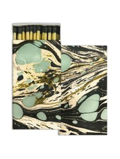 HomArt Aqua Marbleized Paper Matches - Set of 3 Boxes