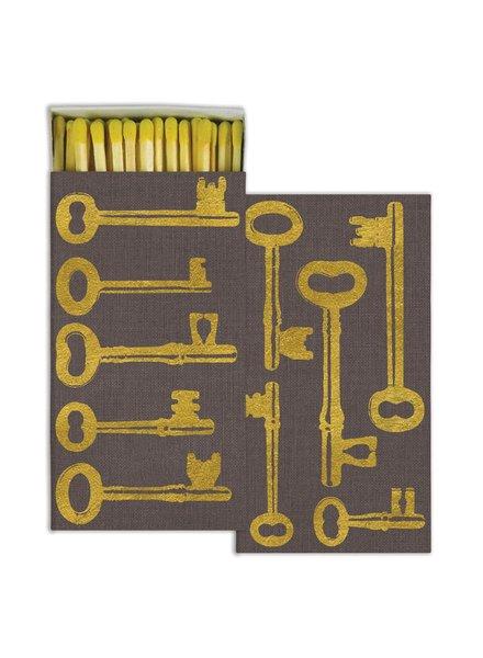 HomArt HomArt Keys Gold Foil Matches - Set of 3 Boxes
