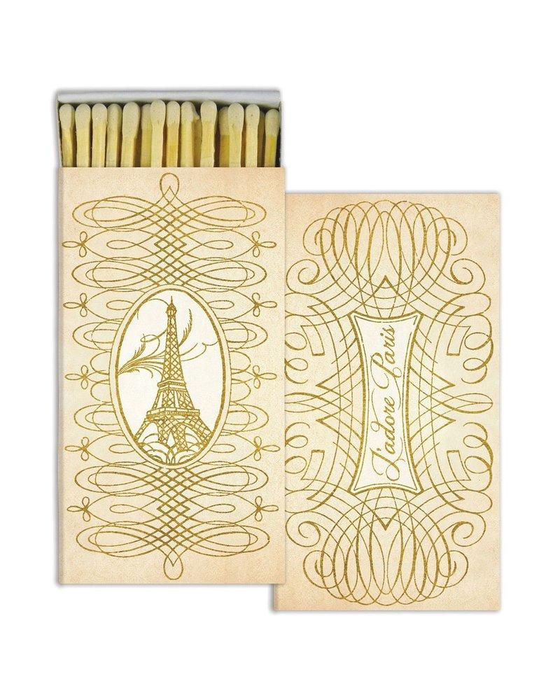 HomArt HomArt Paris Script Gold Foil Matches - Set of 3 Boxes