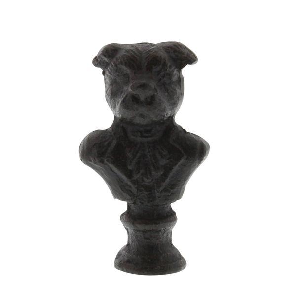HomArt Cast Iron Dog Bust Statue