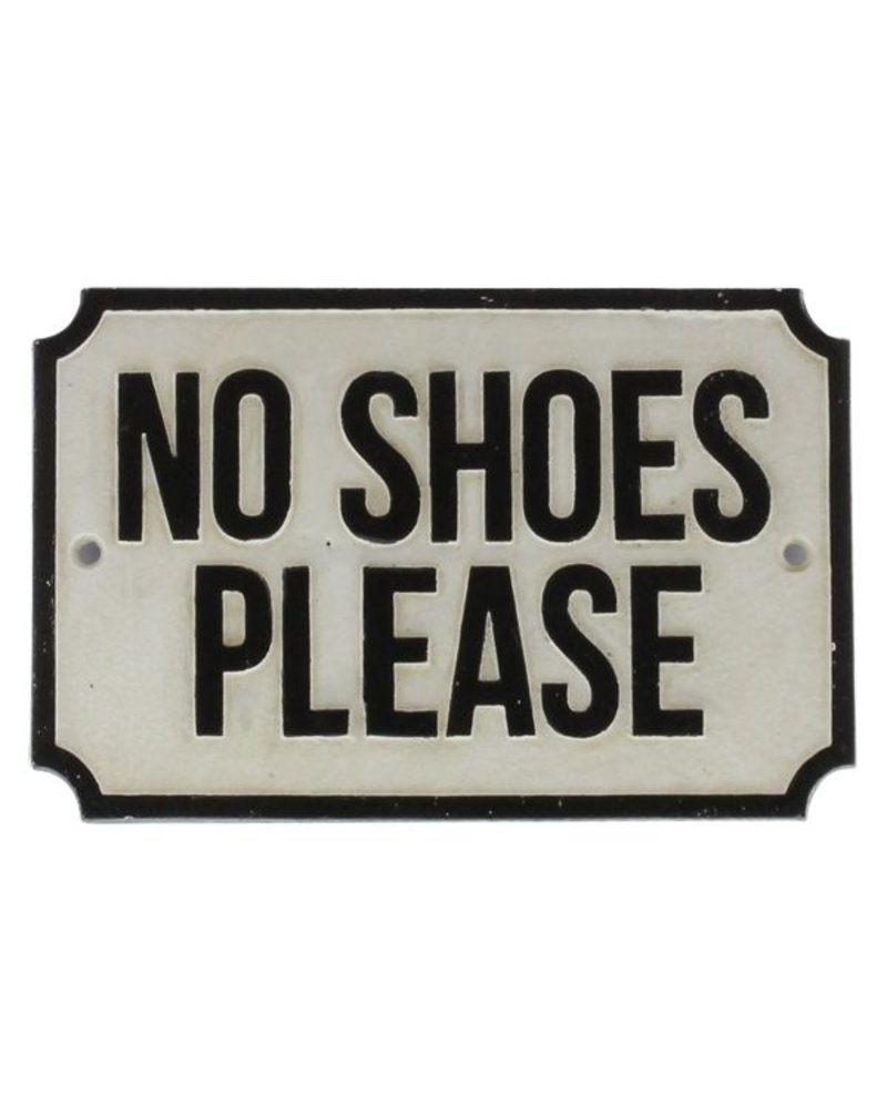HomArt Cast Iron Sign - No Shoes Please
