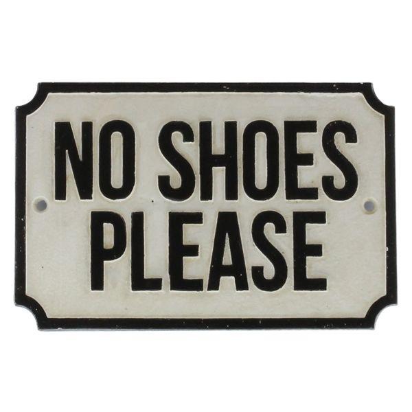 HomArt Cast Iron Sign - No Shoes Please