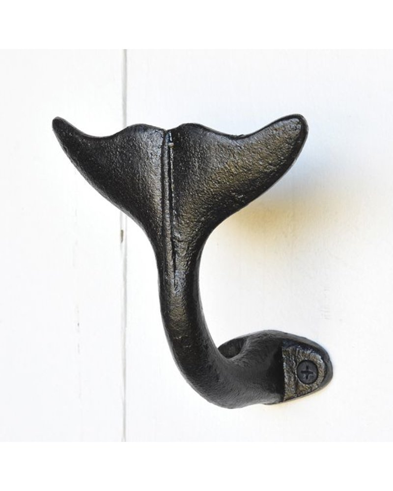 HomArt Whale Tail Wall Hook in Black