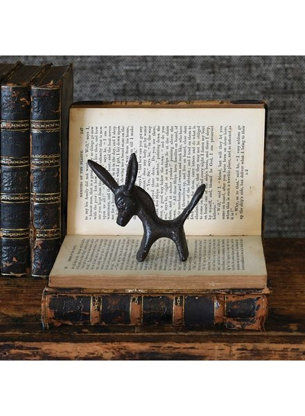 HomArt Pablo Critter - Cast Iron Donkey Statue