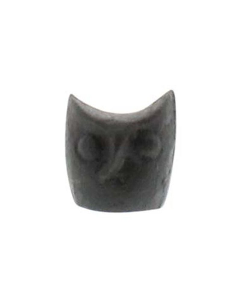 HomArt Miniature Owl Head Statue - Cast Iron