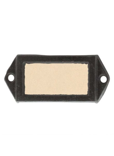 HomArt Cast Iron Card Slot Label Holder
