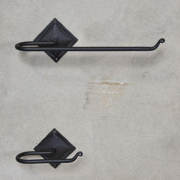 HomArt Durango Towel Bar - Forged Iron