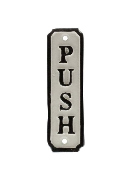 HomArt Door Push Cast Iron Sign