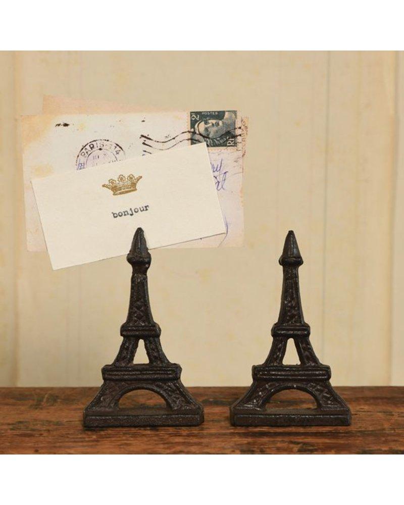 HomArt Eiffel Tower Cast Iron Place Card Holder