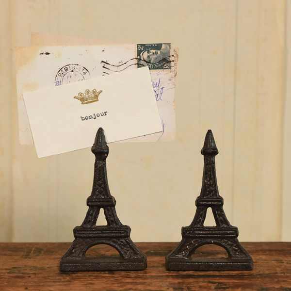 HomArt Eiffel Tower Cast Iron Place Card Holder