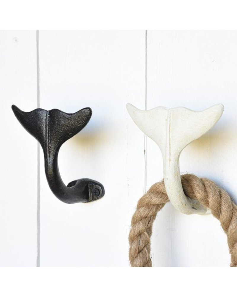 HomArt Whale Tail Wall Hook in Antique White