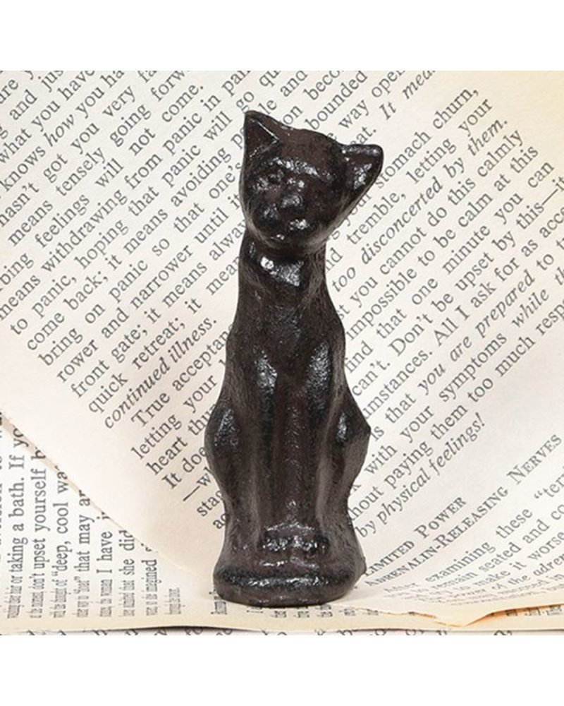 HomArt Cinder the Sitting Cat Statue  - Cast Iron