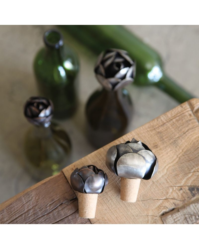 HomArt Flower Wine Bottle Stop - Iron - Lrg