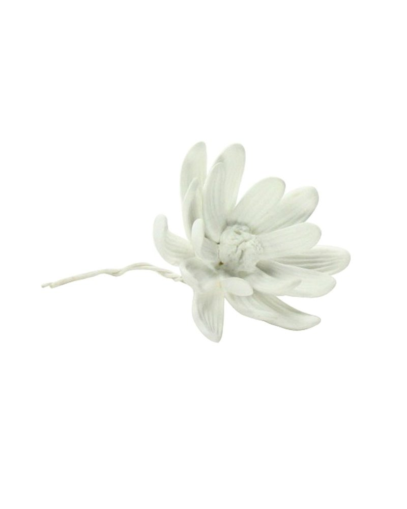 HomArt Bone China Curled Magnolia Flower White