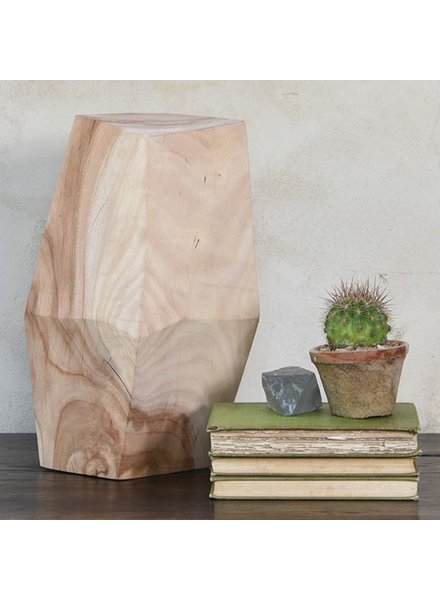 """HomArt Faceted Wood Object - 12.5"""""""