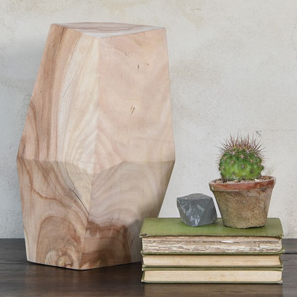 HomArt Faceted Wood Object - 12.5""