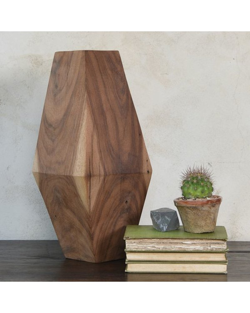 HomArt Faceted Wood Object - 15""