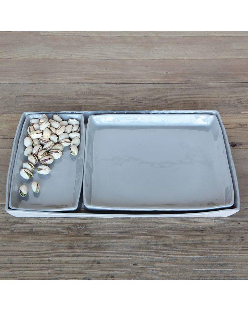 HomArt Fleet Ceramic Tray - Sqr Grey