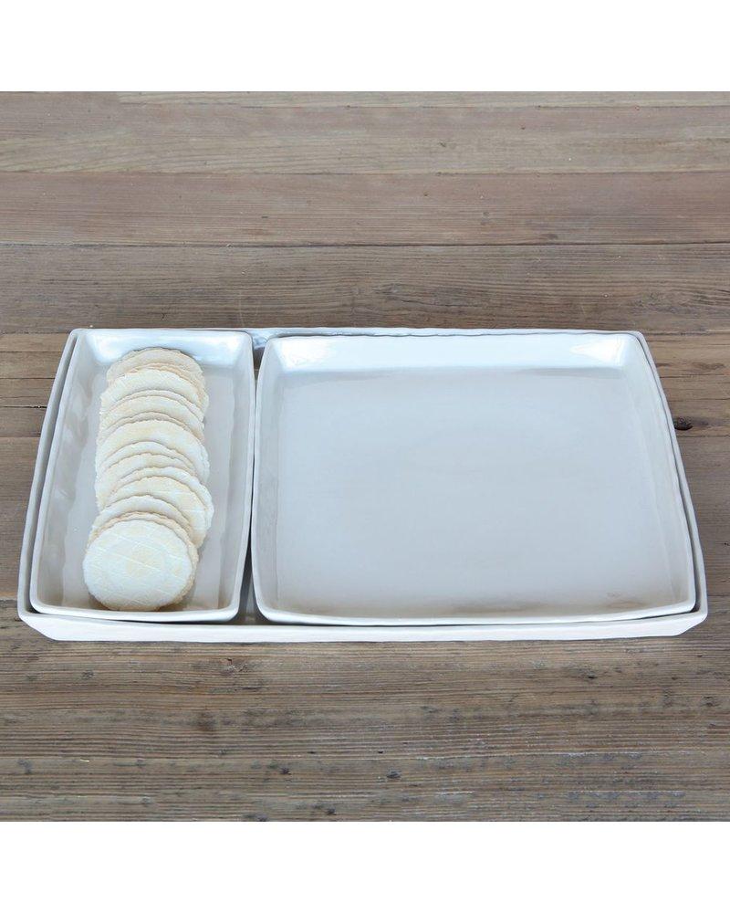 HomArt Fleet Ceramic Tray - Sqr White