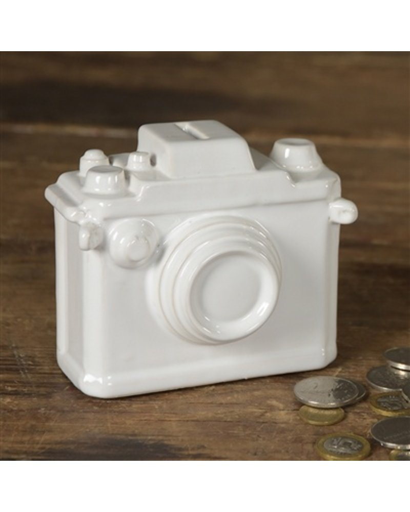 HomArt Ceramic Camera Bank - Matte White