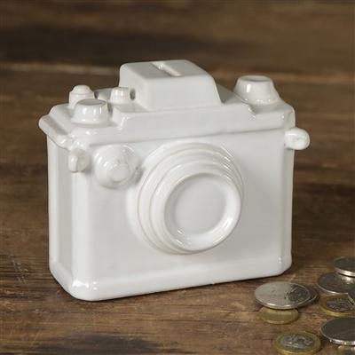 HomArt Ceramic Camera Bank - Matte White