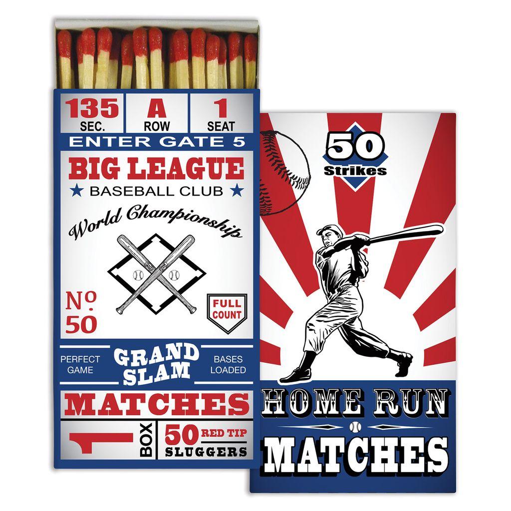 HomArt Baseball HomArt Matches Set of 3 Boxes