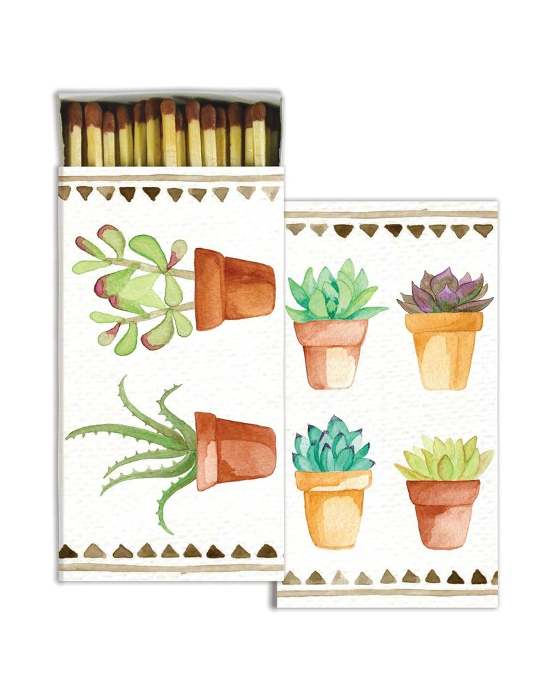 HomArt Watercolor Succulents  HomArt Matches Set of 3 Boxes