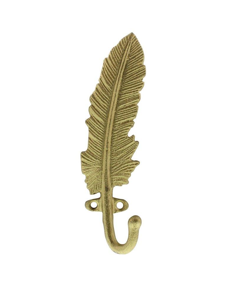 HomArt Gold Feather Wall Hook - Cast iron
