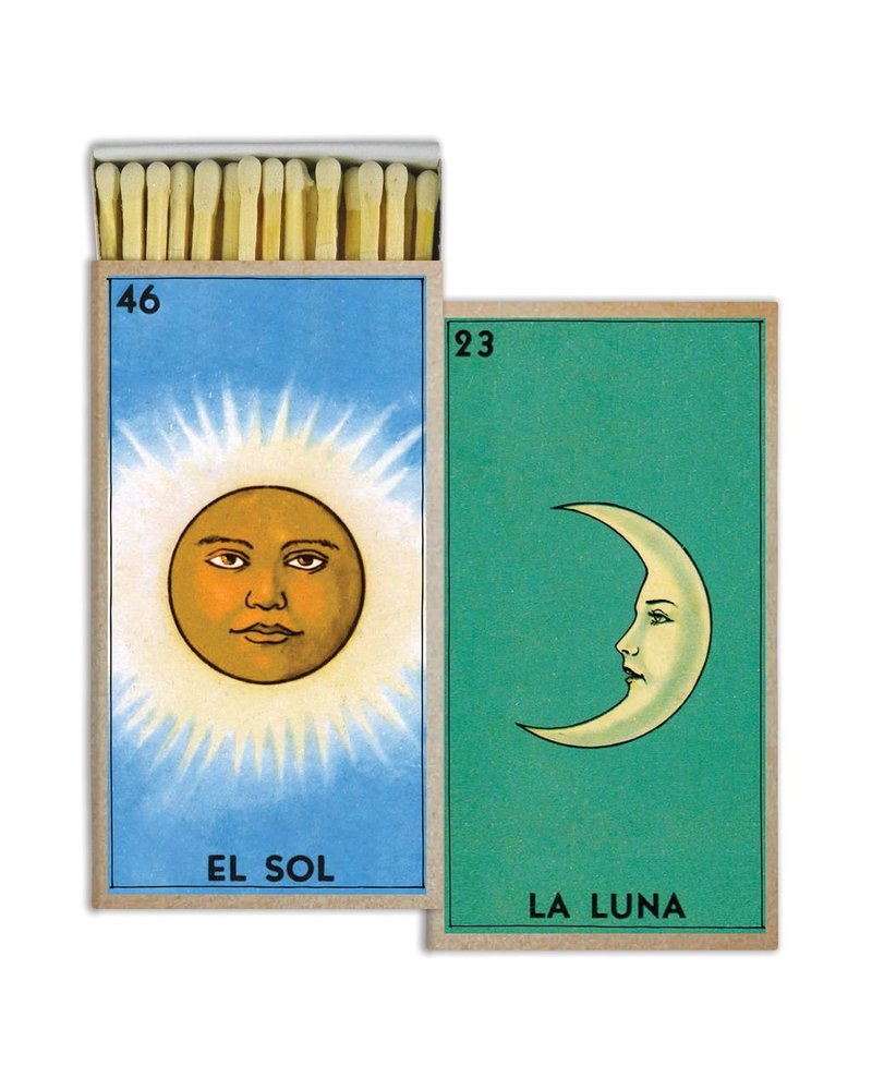 HomArt El Sol and La Luna HomArt Matches Set of 3 Boxes