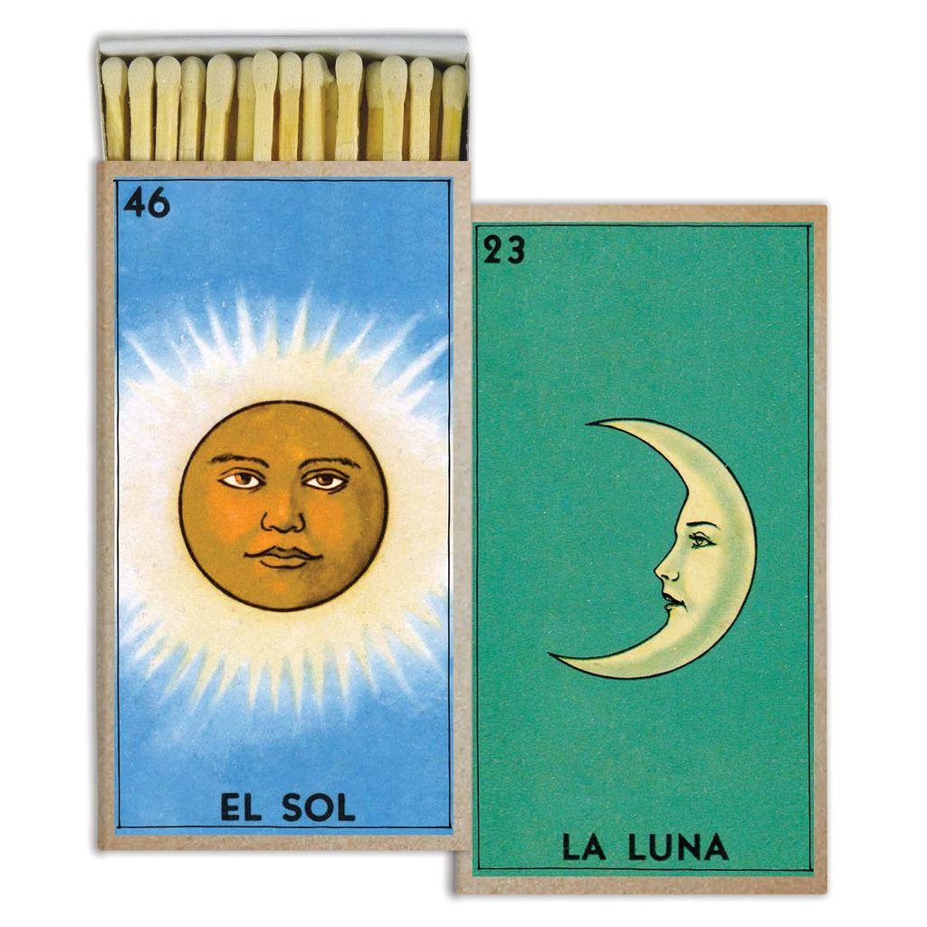 HomArt El Sol and La Luna HomArt Matches Set of 3 Boxes