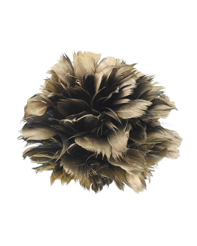 HomArt Gold Feather Pomanders Ball - Small