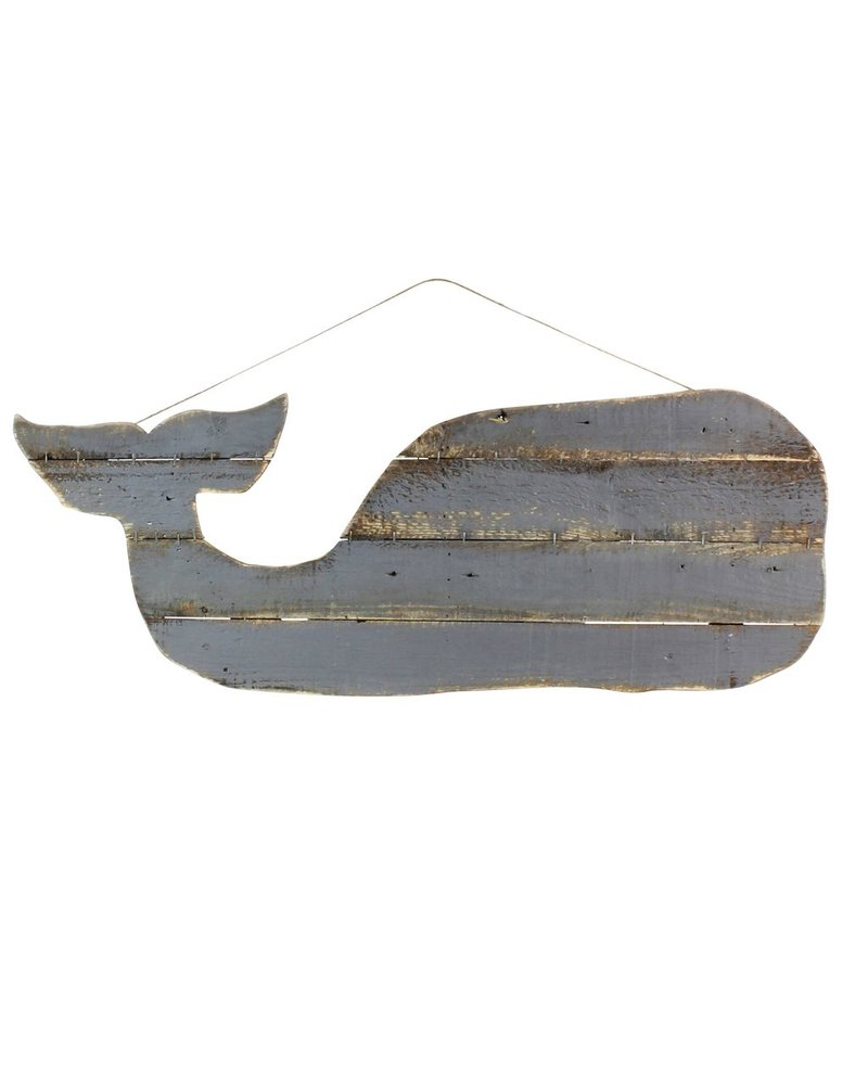 HomArt Wood Slat Sealife Whale Wall Art