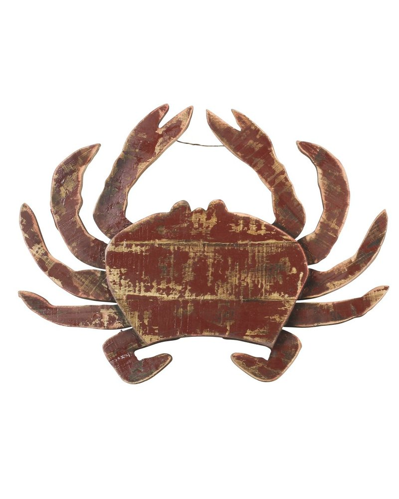 HomArt Wood Slat Sealife Crab Wall Art