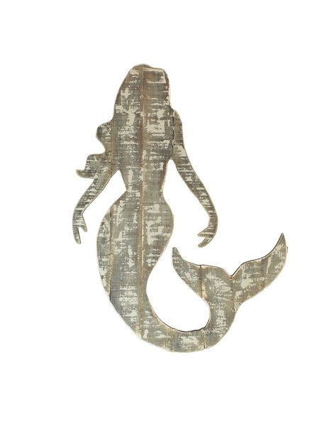 HomArt Wood Slat Sealife Mermaid Wall Art