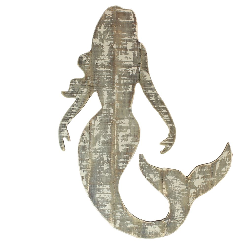 Bon ... HomArt Wood Slat Sealife Mermaid Wall Art