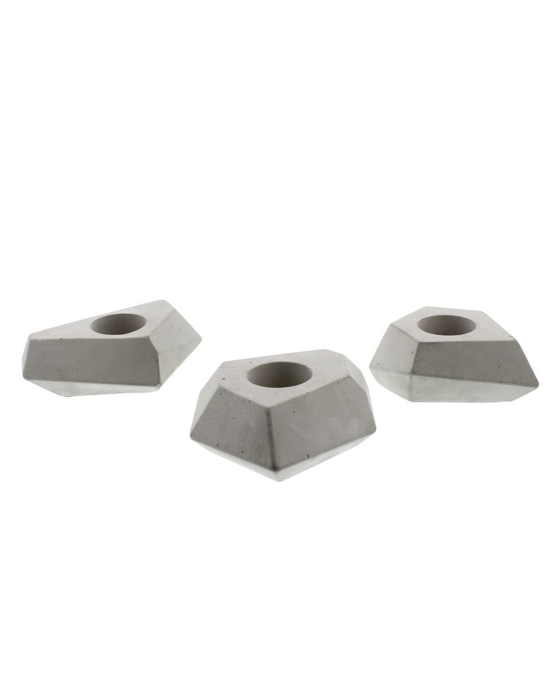 HomArt Faceted Tealight Holders - Set of 3