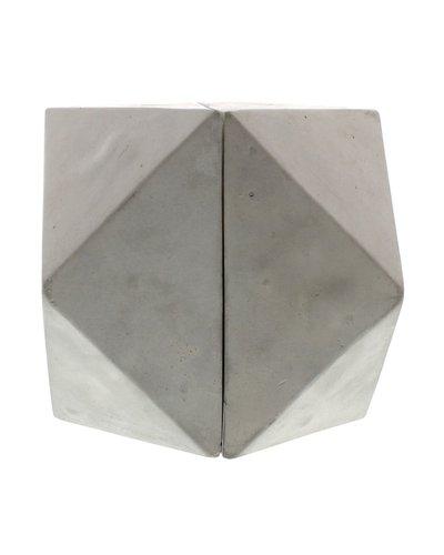 HomArt Geometric Cement Bookends - Cubeoctahedron