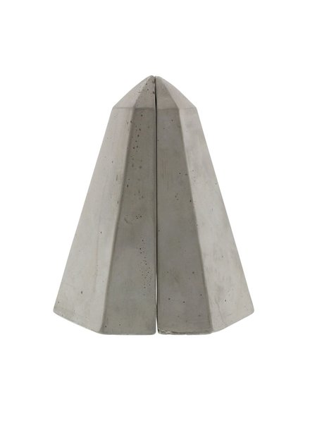 HomArt Geometric Cement Bookends - Obelisk