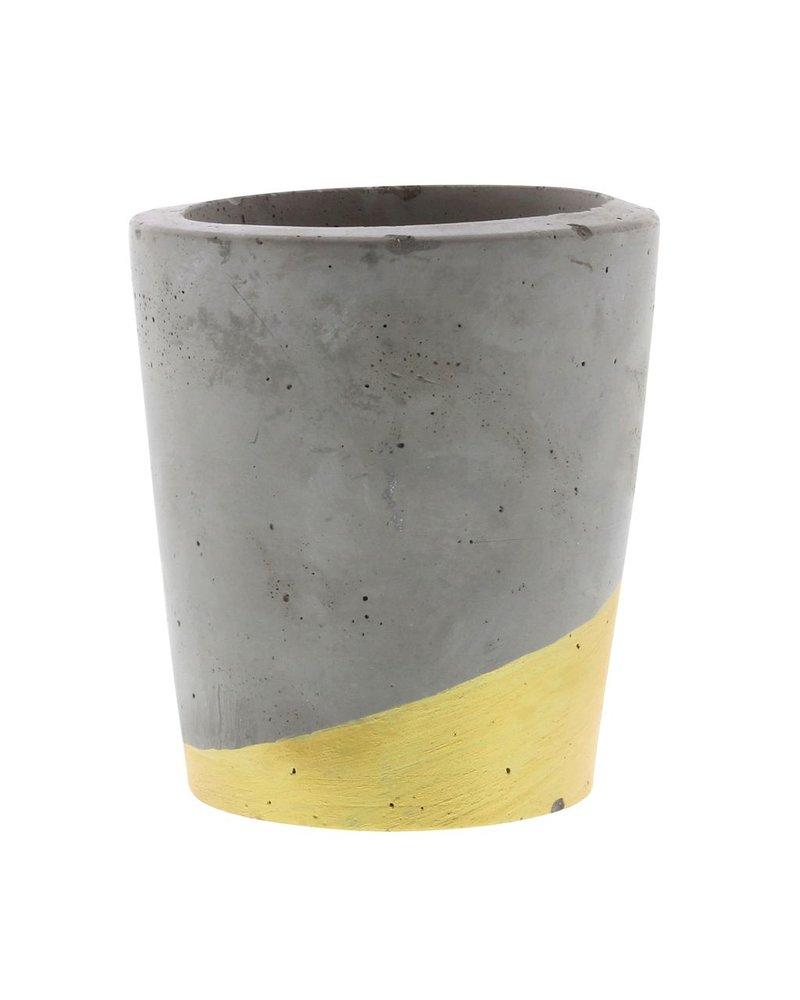HomArt Cement Tealight Holder in Gold - Lrg