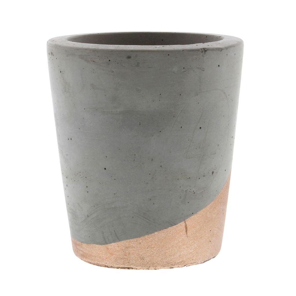 HomArt Cement Tealight Holder in Copper - Lrg