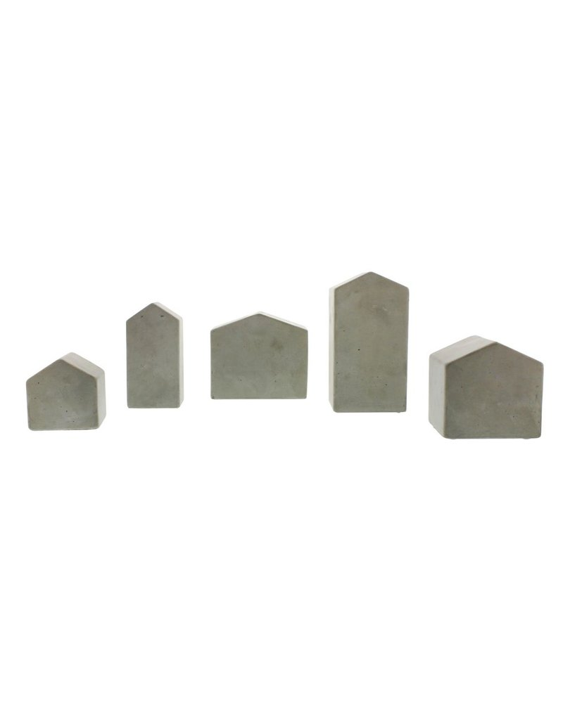 HomArt Cement Village Houses - Set of 5